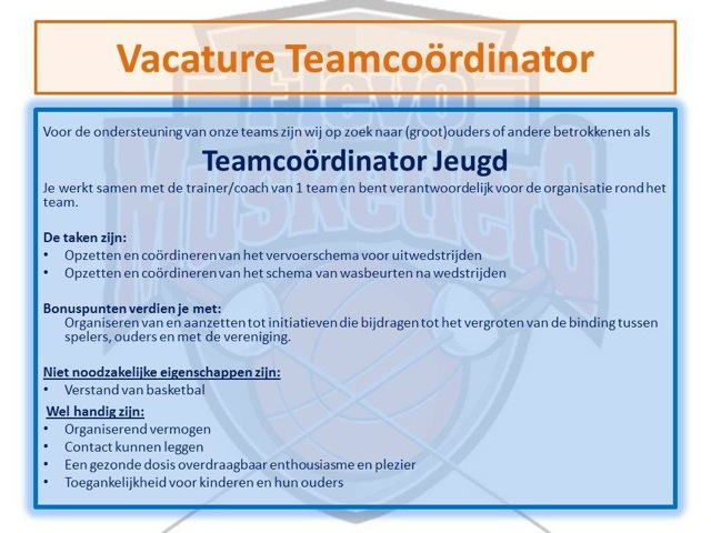 Teamcoördinator